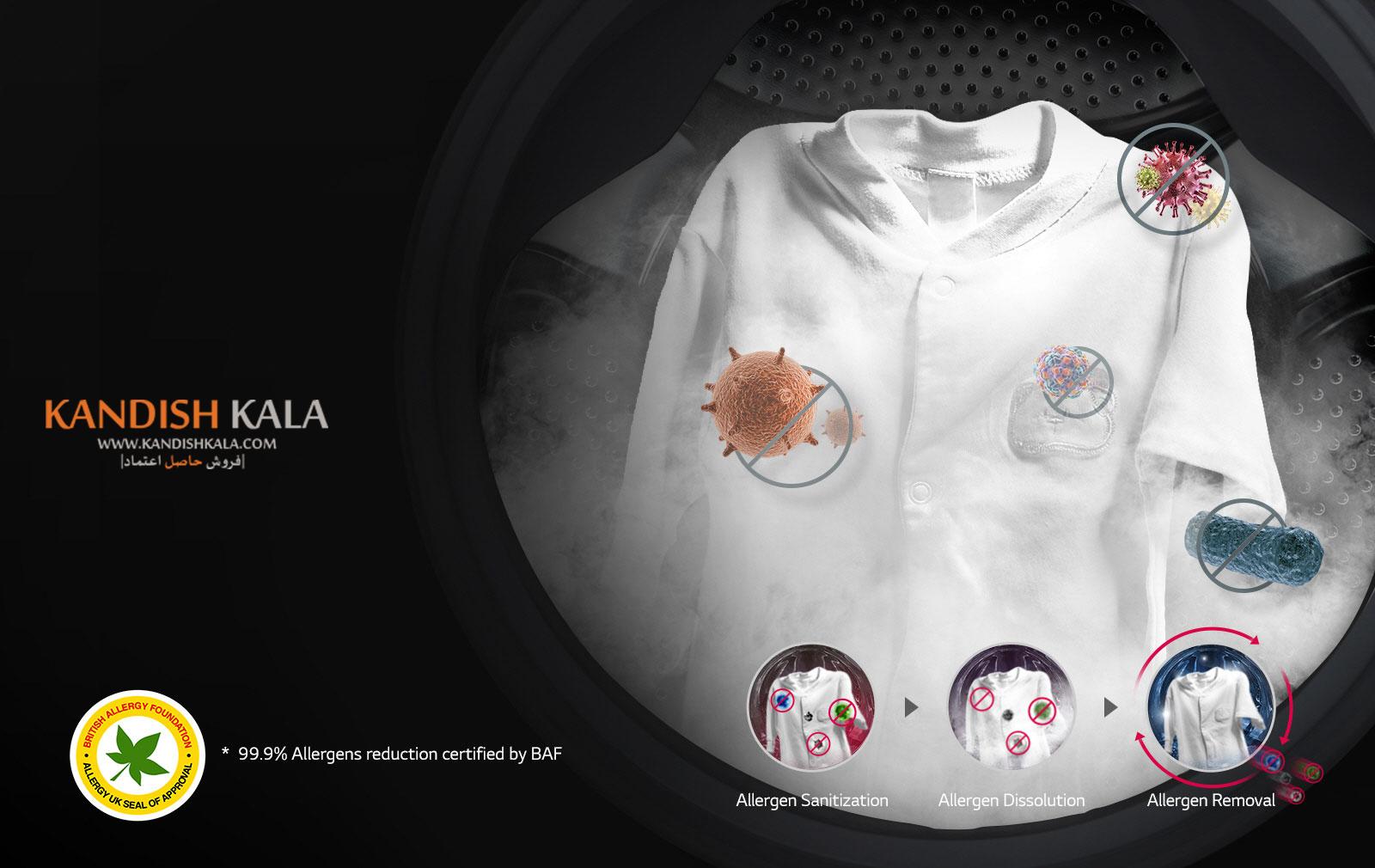 قیمت لباسشویی ال جی 9 کیلو مدل J6