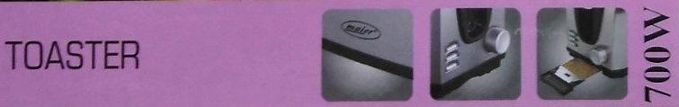 مشخصات توستر نان 700 وات مایر مدل MR-418