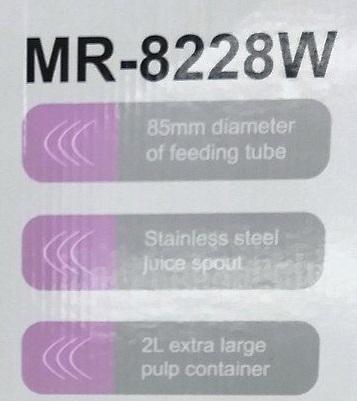مشخصات آبمیوه گیری 4 کاره مایر مدل MR-8228W