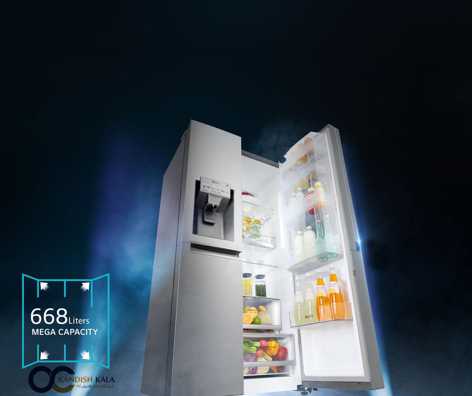 قیمت یخچال ساید X257 ال جی